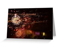 Fireworks at niagara falls Greeting Card