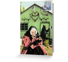 Mystery Nun at Haunted Ranch Greeting Card
