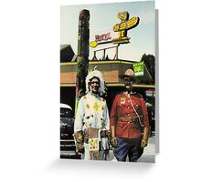 Twin Totems Cafe Greeting Card