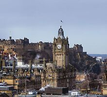Edinburgh Castle from Calton Hill (Panoramic) by Miles Gray