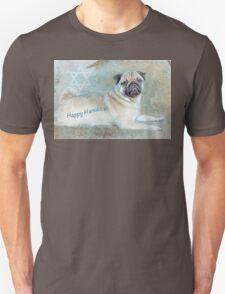 "Pug ""Happy Hanukkah"" ~ Greeting Cards Plus More! T-Shirt"