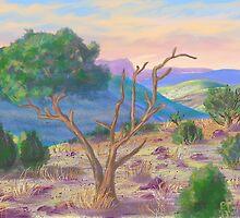 Old Weathered Tree  by EllieTaylorArt