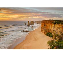 The 12 Apostles by sunset Photographic Print