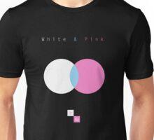 White & Pink Unisex T-Shirt
