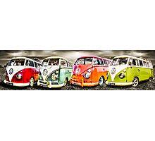 VW campervan's Photographic Print