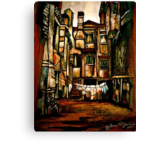 A Quiet City... Canvas Print