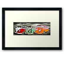 VW campervan's Framed Print