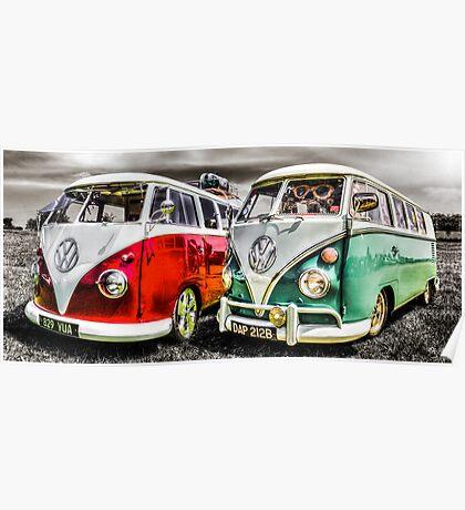 VW campervan's Poster