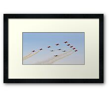 The Red Arrows with 'Eagle Squadron' Framed Print