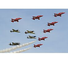 The Red Arrows with 'Eagle Squadron' Photographic Print