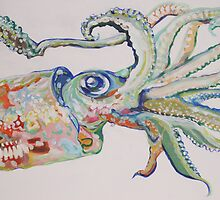 The Squid - Acrylic Painting by b0y-blunder