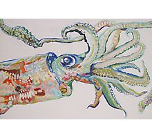 The Squid - Acrylic Painting Photographic Print