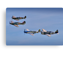 """Eagle Squadron"" - Duxford 26.05.2013 Canvas Print"