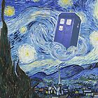 Doctor Who Inspired - Van Gogh's Starry Night - When Vincent Met The Doctor by traciv