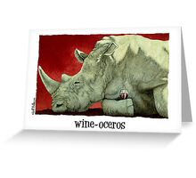 "Will Bullas card ""wine-oceros"" Greeting Card"