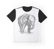Vintage Elephant Illustration Graphic T-Shirt