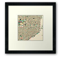 MIAMI MAP Framed Print