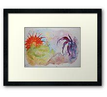 'The Flower Planet wars' Framed Print