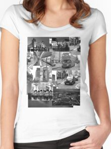 London views :: Black and White Women's Fitted Scoop T-Shirt
