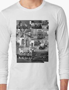 London views :: Black and White Long Sleeve T-Shirt