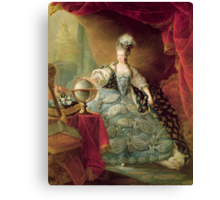Portrait of Marie Antoinette (1755-93) Queen of France, 1775 (oil on canvas)  Canvas Print