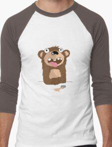 Drunk Bear Men's Baseball ¾ T-Shirt