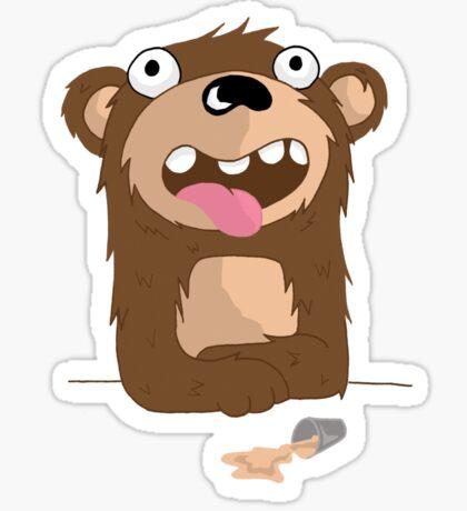 Drunk Bear Sticker
