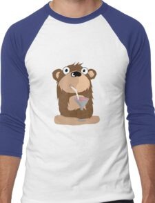 Cocktail Bear Men's Baseball ¾ T-Shirt