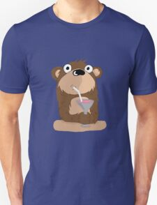 Cocktail Bear Unisex T-Shirt