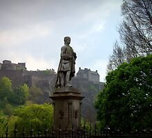 Allan Ramsay Statue in Princes Street Gardens by Kasia-D