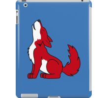 Red Howling Wolf Pup iPad Case/Skin
