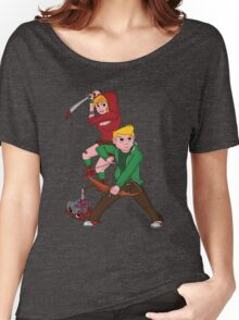 Red Riding Hood and Robin Hood: The Zombie Killing Hoods Women's Relaxed Fit T-Shirt