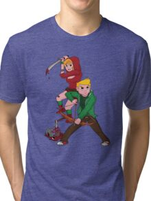 Red Riding Hood and Robin Hood: The Zombie Killing Hoods Tri-blend T-Shirt