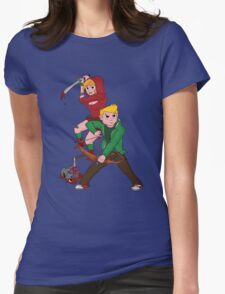 Red Riding Hood and Robin Hood: The Zombie Killing Hoods Womens Fitted T-Shirt