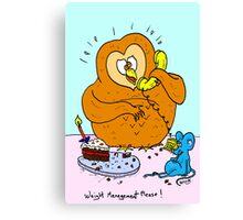 Weight Management Please! Canvas Print