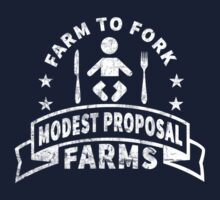 Modest Proposal - From Farm to Fork (white) Kids Tee