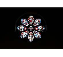Rosette Stained Glass Window in Gothic Church Photographic Print