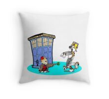 Calvin and Hobbes Doctor Who Throw Pillow