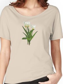 Backlit White Tulip Women's Relaxed Fit T-Shirt