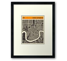 NEW ORLEANS MAP Framed Print