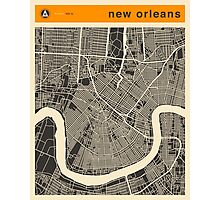 NEW ORLEANS MAP Photographic Print