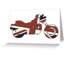 British Biker Greeting Card