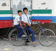 Nepali Bicycle Boys by Jamie Mitchell