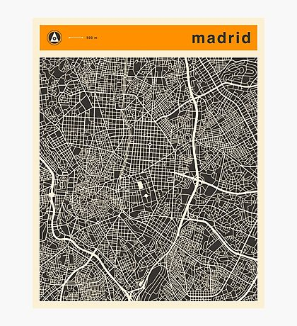MADRID MAP Photographic Print