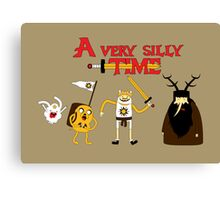 A Very Silly Time Canvas Print