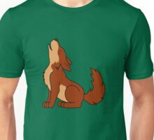 Natural Red Howling Wolf Pup Unisex T-Shirt