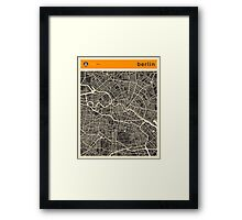 Berlin Map Framed Print
