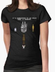 Going Solo Womens Fitted T-Shirt