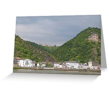 The Rhine Valley. Greeting Card