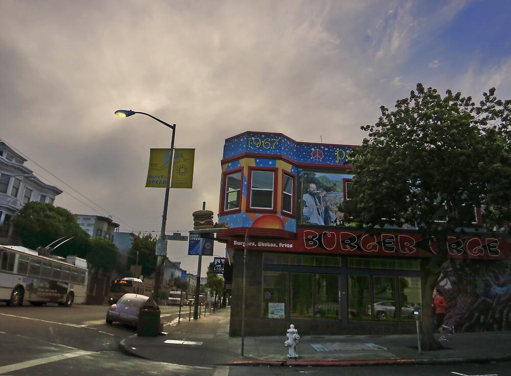 Burger Urge On Haight Street by David Denny